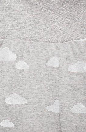 Детские хлопковые ползунки SANETTA FIFTYSEVEN серого цвета, арт. 901160.   Фото 3