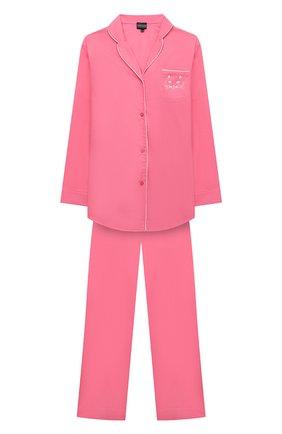 Детская хлопковая пижама NATAYAKIM розового цвета, арт. NY-025BWK | Фото 1