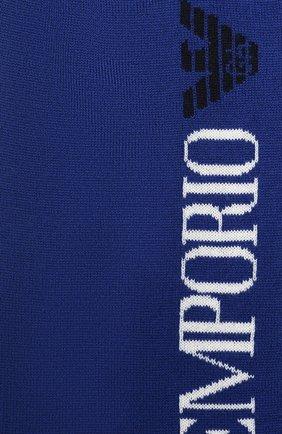Детский шерстяной шарф EMPORIO ARMANI синего цвета, арт. 404384/0A430 | Фото 2