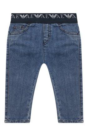 Детские джинсы EMPORIO ARMANI синего цвета, арт. 6HHJ07/4D29Z | Фото 1