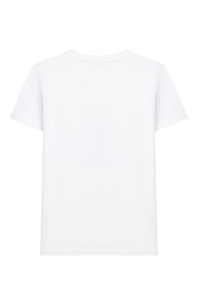 Детская хлопковая футболка MUMOFSIX белого цвета, арт. MOSMI_TS01A | Фото 2