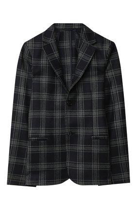 Детский шерстяной пиджак DAL LAGO темно-синего цвета, арт. N089Q/8903/13-16 | Фото 1