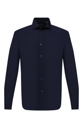 Мужская хлопковая рубашка CORNELIANI темно-синего цвета, арт. 86P012-0811213/00 | Фото 1