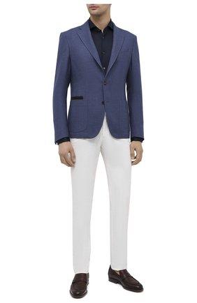 Мужская хлопковая рубашка CORNELIANI темно-синего цвета, арт. 86P012-0811213/00 | Фото 2