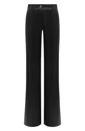 Женские кожаные брюки GUCCI черного цвета, арт. 629532/XN336 | Фото 1