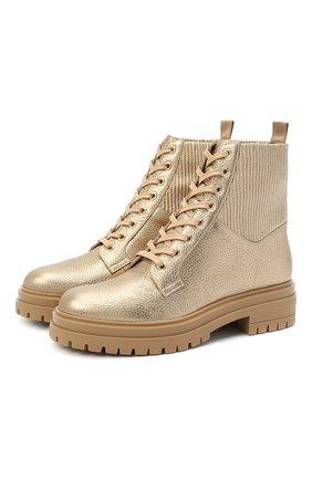 Женские комбинированные ботинки martis GIANVITO ROSSI золотого цвета, арт. G73884.20CU0.BHKMEKM | Фото 1