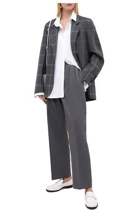 Женские шерстяные брюки MARNI серого цвета, арт. PAMA0192U0/TW839 | Фото 2