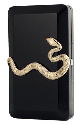 Клатч черный со змеей KILIAN бесцветного цвета, арт. 3700550218814 | Фото 1