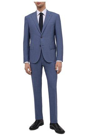 Мужской шерстяной костюм CORNELIANI голубого цвета, арт. 867268-0818414/92 Q1 | Фото 1