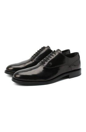 Мужские кожаные оксфорды TOD'S черного цвета, арт. XXM0XR00N50AKT   Фото 1