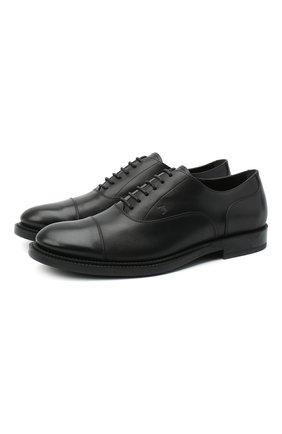 Мужские кожаные оксфорды TOD'S черного цвета, арт. XXM62C00N500LW | Фото 1