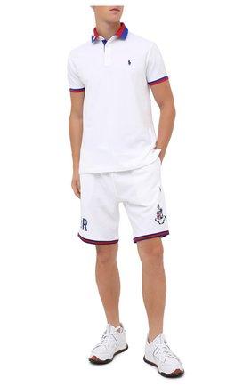 Мужские хлопковые шорты POLO RALPH LAUREN белого цвета, арт. 710800320 | Фото 2