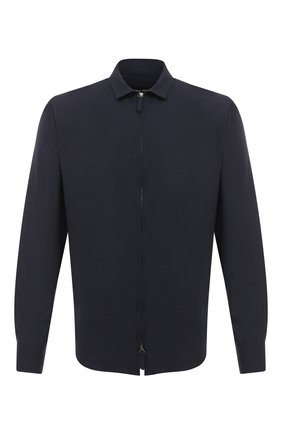 Мужская шерстяная рубашка GIORGIO ARMANI темно-синего цвета, арт. 8WGCCZ5H/TZ735 | Фото 1