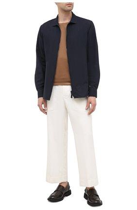Мужская шерстяная рубашка GIORGIO ARMANI темно-синего цвета, арт. 8WGCCZ5H/TZ735 | Фото 2