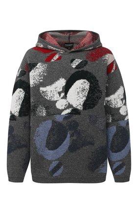 Мужской шерстяной свитер EMPORIO ARMANI серого цвета, арт. 6H1MV1/1M01Z   Фото 1