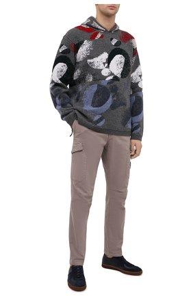 Мужской шерстяной свитер EMPORIO ARMANI серого цвета, арт. 6H1MV1/1M01Z   Фото 2