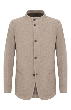 Мужской кашемировый пиджак GIORGIO ARMANI бежевого цвета, арт. 0WGGG0IL/T0059 | Фото 1