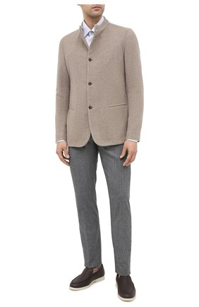 Мужской кашемировый пиджак GIORGIO ARMANI бежевого цвета, арт. 0WGGG0IL/T0059 | Фото 2