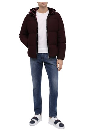 Мужская пуховая куртка GIORGIO ARMANI бордового цвета, арт. 0WG0C040/J0008 | Фото 2