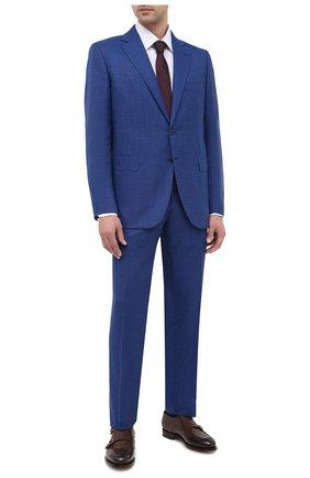Мужской шерстяной костюм ZILLI синего цвета, арт. MMU-P222Z-64005/0001 | Фото 1