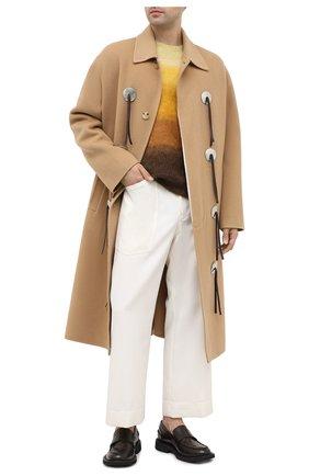 Мужские шерстяные брюки LANVIN белого цвета, арт. RM-TR0068-4687-H20 | Фото 2 (Материал внешний: Шерсть; Материал подклада: Вискоза; Длина (брюки, джинсы): Стандартные; Случай: Повседневный; Стили: Кэжуэл)