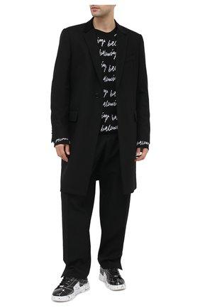 Мужские кожаные кеды PHILIPP PLEIN черно-белого цвета, арт. F20S MSC2859 PLE075N | Фото 2