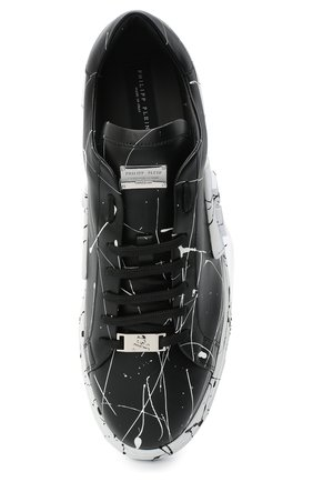 Мужские кожаные кеды PHILIPP PLEIN черно-белого цвета, арт. F20S MSC2859 PLE075N | Фото 5