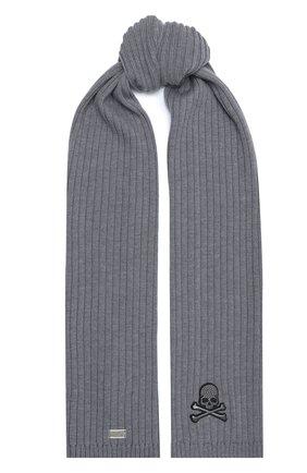 Мужской шерстяной шарф PHILIPP PLEIN серого цвета, арт. F20A MAA0288 PKN002N | Фото 1