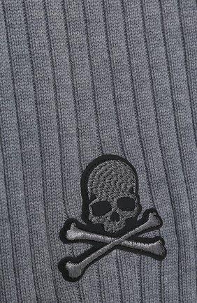 Мужской шерстяной шарф PHILIPP PLEIN серого цвета, арт. F20A MAA0288 PKN002N | Фото 2