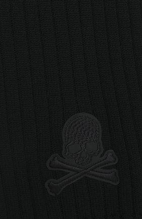 Мужской шерстяной шарф PHILIPP PLEIN черного цвета, арт. F20A MAA0288 PKN002N | Фото 2