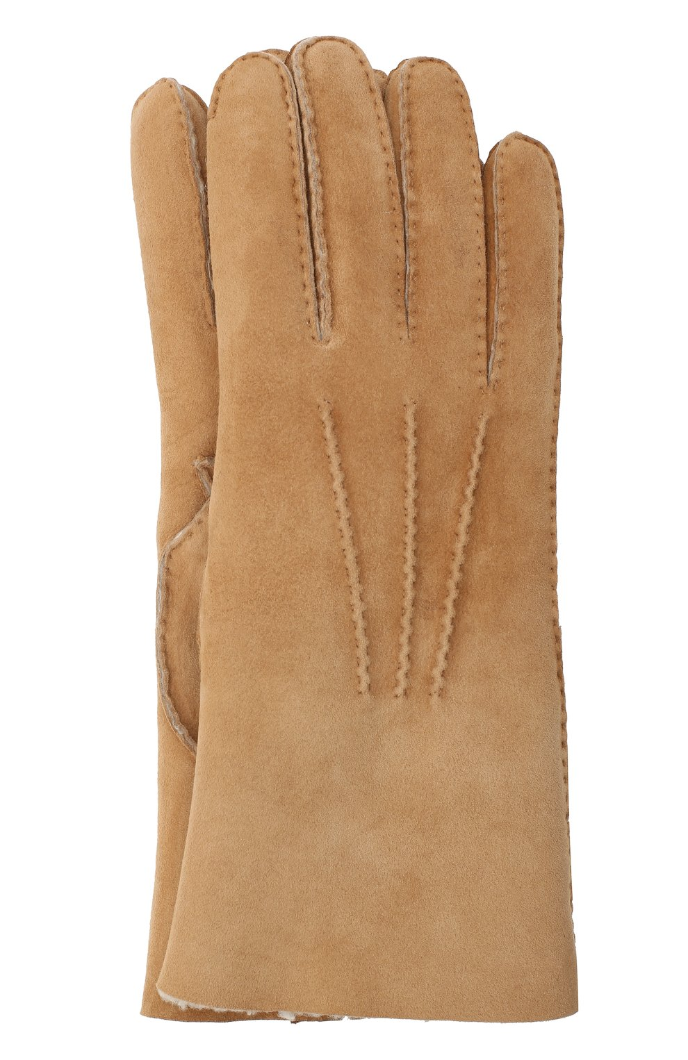 Мужские замшевые перчатки LORO PIANA бежевого цвета, арт. FAL4819 | Фото 1