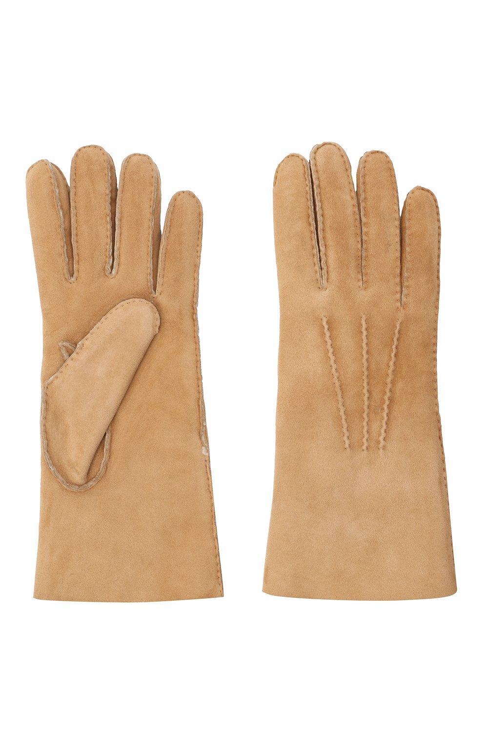 Мужские замшевые перчатки LORO PIANA бежевого цвета, арт. FAL4819 | Фото 2