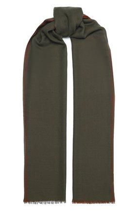 Мужской кашемировый шарф LORO PIANA хаки цвета, арт. FAL2544 | Фото 1