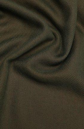 Мужской кашемировый шарф LORO PIANA хаки цвета, арт. FAL2544 | Фото 2