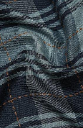 Мужской шарф из кашемира и шелка LORO PIANA синего цвета, арт. FAL2547 | Фото 2