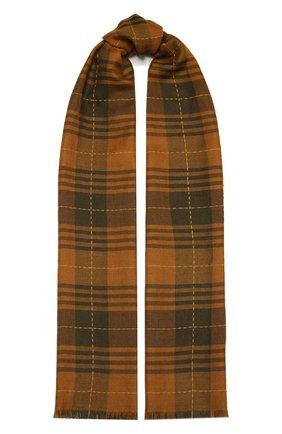 Мужской шарф из кашемира и шелка LORO PIANA коричневого цвета, арт. FAL2547 | Фото 1
