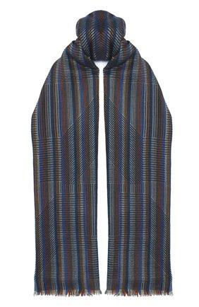 Мужской шарф из кашемира и шелка LORO PIANA темно-синего цвета, арт. FAL2939 | Фото 1