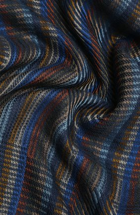 Мужской шарф из кашемира и шелка LORO PIANA темно-синего цвета, арт. FAL2939 | Фото 2
