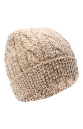 Мужская кашемировая шапка LORO PIANA бежевого цвета, арт. FAL4620 | Фото 1