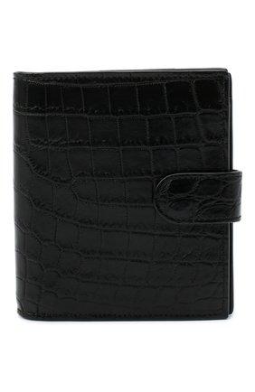 Женские портмоне из кожи крокодила BOTTEGA VENETA черного цвета, арт. 121059/V912R | Фото 1