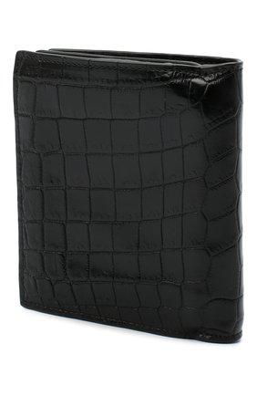Женские портмоне из кожи крокодила BOTTEGA VENETA черного цвета, арт. 121059/V912R | Фото 2