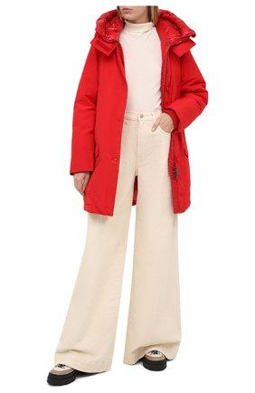 Женская пуховая парка WOOLRICH красного цвета, арт. CFWW0U0304FR/UT0001 | Фото 2