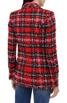 Женский жакет BALMAIN красного цвета, арт. UF17471/W076   Фото 5