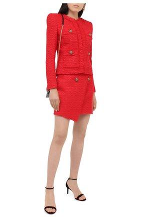 Женская юбка BALMAIN красного цвета, арт. UF14059/X396 | Фото 2