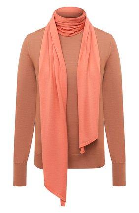 Женский шерстяной пуловер VICTORIA BECKHAM кораллового цвета, арт. 1320KJU001510A | Фото 1