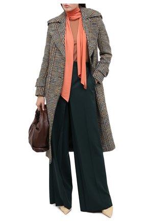Женский шерстяной пуловер VICTORIA BECKHAM кораллового цвета, арт. 1320KJU001510A | Фото 2