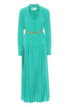 Женское шелковое платье VICTORIA BECKHAM зеленого цвета, арт. 1320WDR001492A | Фото 1