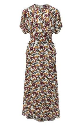 Женское хлопковое платье VICTORIA BECKHAM разноцветного цвета, арт. 1320WDR001725A | Фото 1