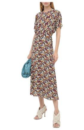 Женское хлопковое платье VICTORIA BECKHAM разноцветного цвета, арт. 1320WDR001725A | Фото 2