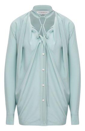 Женская шелковая блузка VICTORIA BECKHAM светло-зеленого цвета, арт. 1320WSH001694B | Фото 1